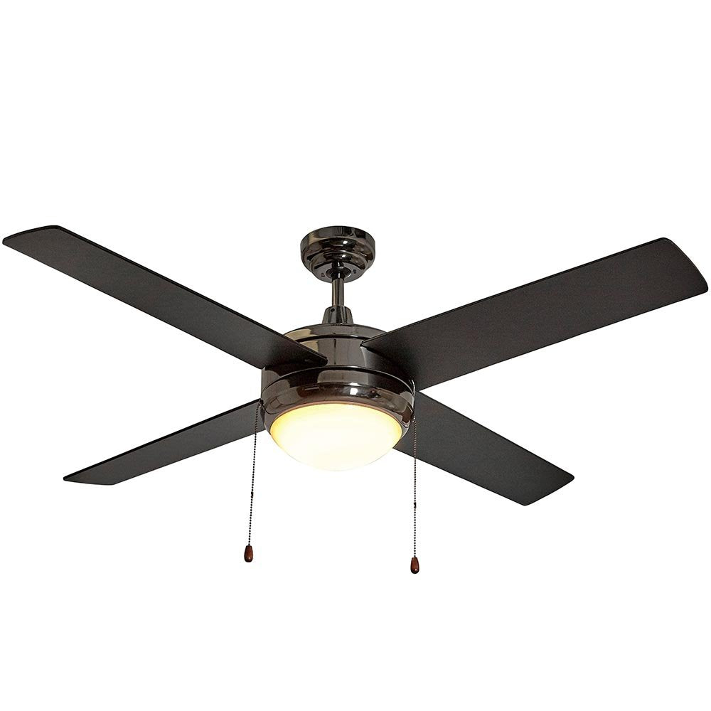Ceiling Fan with Light - LED Light 4 Blades 50