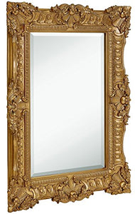 "Large Ornate Antique Baroque Frame Mirror 30"" X 40"""