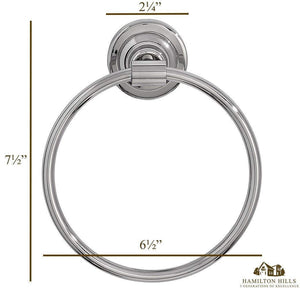 Classical Design Polished Chrome Hand Towel Ring
