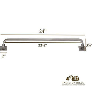 Modern Flat Brushed Nickel Towel Bar