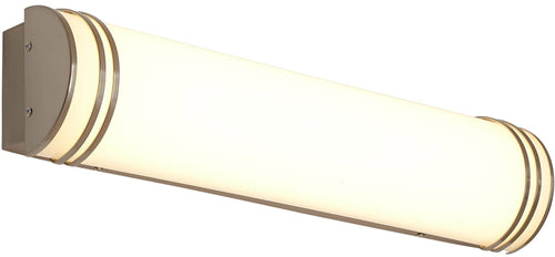 Brushed Nickel Modern Frosted Light
