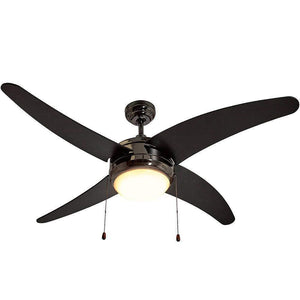 "Ceiling Fan with Light - LED Light 4 Curved Blades 50"" Inch"