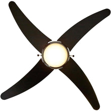 "Load image into Gallery viewer, Ceiling Fan with Light - LED Light 4 Curved Blades 50"" Inch"