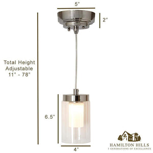 Polished Nickel Candle Light Hanging Pendant