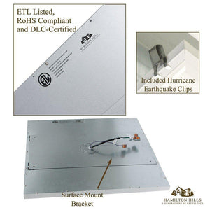 "Square LED Panel Recessed in Ceiling Tile Light (24"" x 24"")"