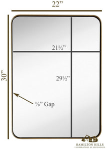 Mirror - Contemporary Brushed Metal Wall Mirror