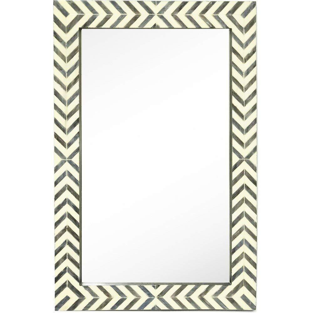 Contemporary Herringbone Pattern Modern Wall Mirror