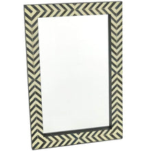 Load image into Gallery viewer, Contemporary Herringbone Pattern Modern Wall Mirror