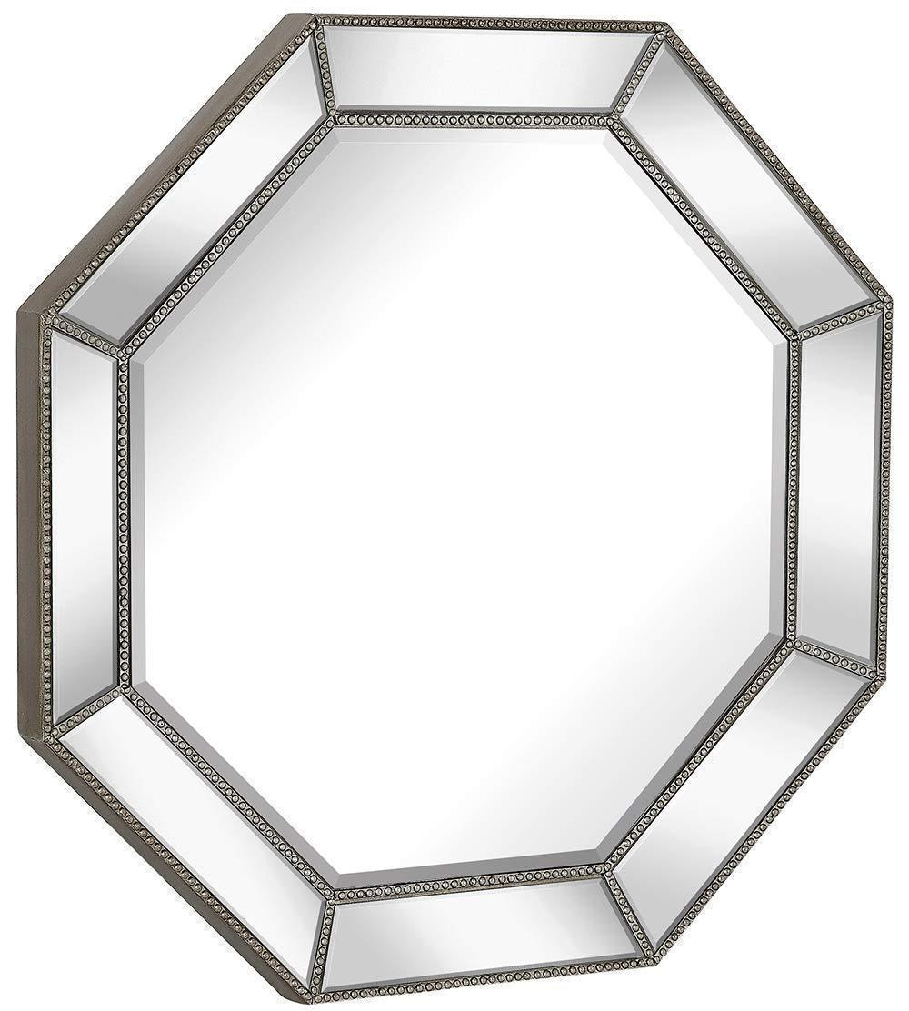 Large Framed Octagon Wall Mirror