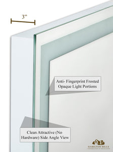 "Lighted Backlit Wall Mirror Rectangle (21""W x 36""H)"