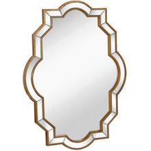 "Load image into Gallery viewer, Mirrored Edge Framed Wall Mirror with Gold Accents 30"" x 40"""