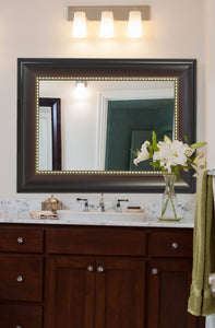 "Wide Transitional Framed Mirror 30"" x 40"""