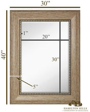 "Load image into Gallery viewer, Wide Transitional Framed Mirror 30"" x 40"""