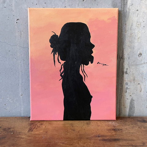 """TONGUE OUT"" PAINTING"