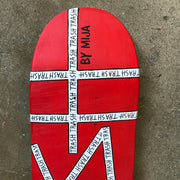 SKATEDECK #8 (TRASH-RED)