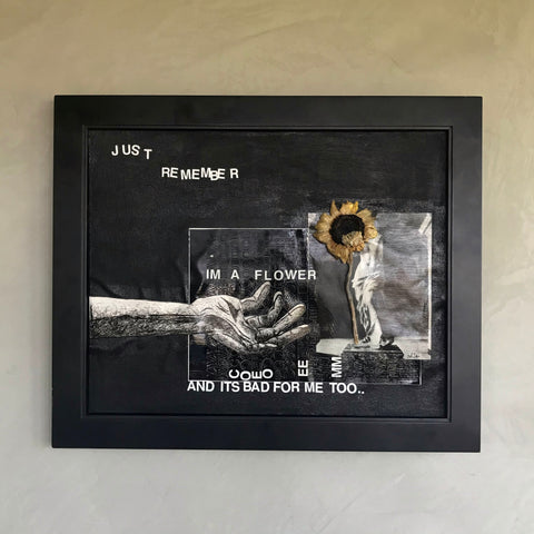 """Bad For Me 2"" Mixed-Media Painting (Framed)"