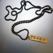 BRASS PLATE NECKLACE *BACK IN STOCK!*