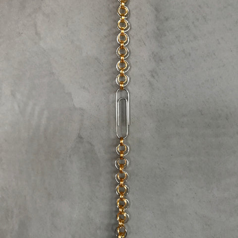 Silver & Gold Triple Chainlink Bracelet /1 of 1