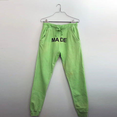 """MADE"" JOGGERS (BRIGHT GREEN)*"