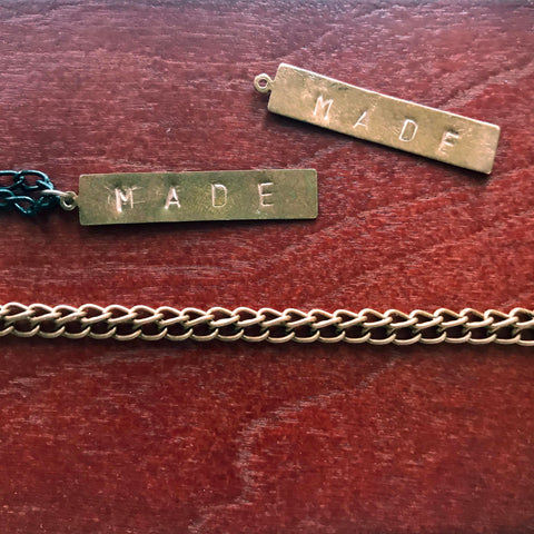 """MADE"" ENGRAVED LONG NECKLACE"