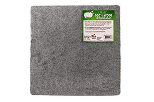 "17"" x 17"" Wool Ironing Mat - 100% New Zealand Wool Pressing Pad, Great for Quilt Classes and Mobile Ironing Station!"
