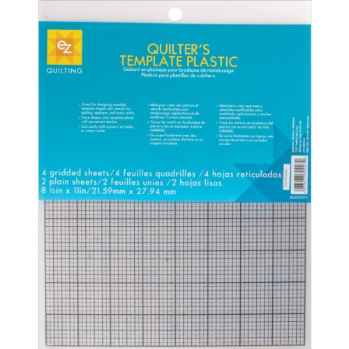 EZQuilting 882670027 Quilter's Template Plastic Assortment, 6-Piece