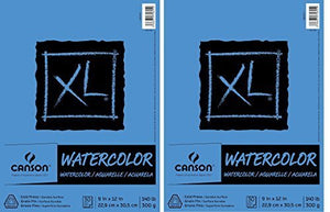2 X Canson Watercolor Paper Pad, 30-Sheet, 9-Inch by 12-Inch, X-Large