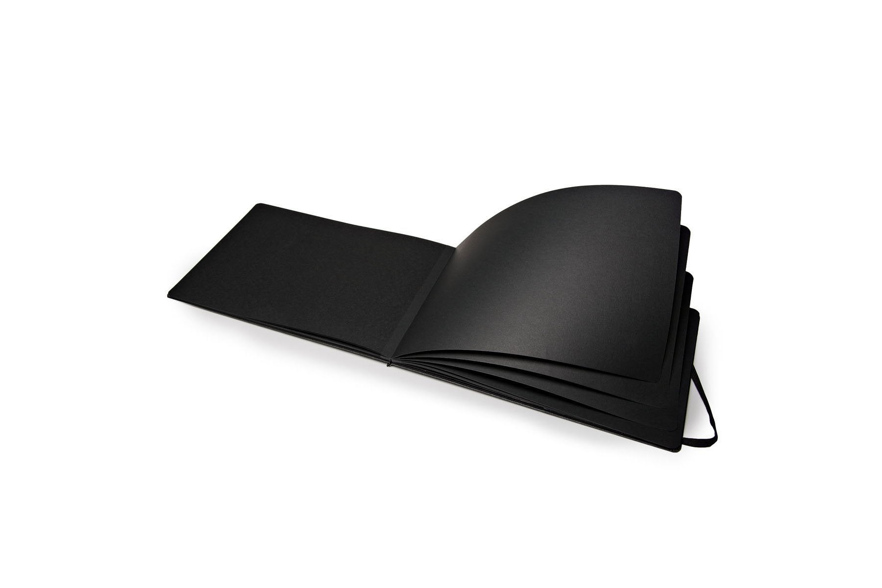 "Moleskine Art Black Page Album, Hard Cover, A4 (8.25"" x 11.75"") Plain/Blank, Black"