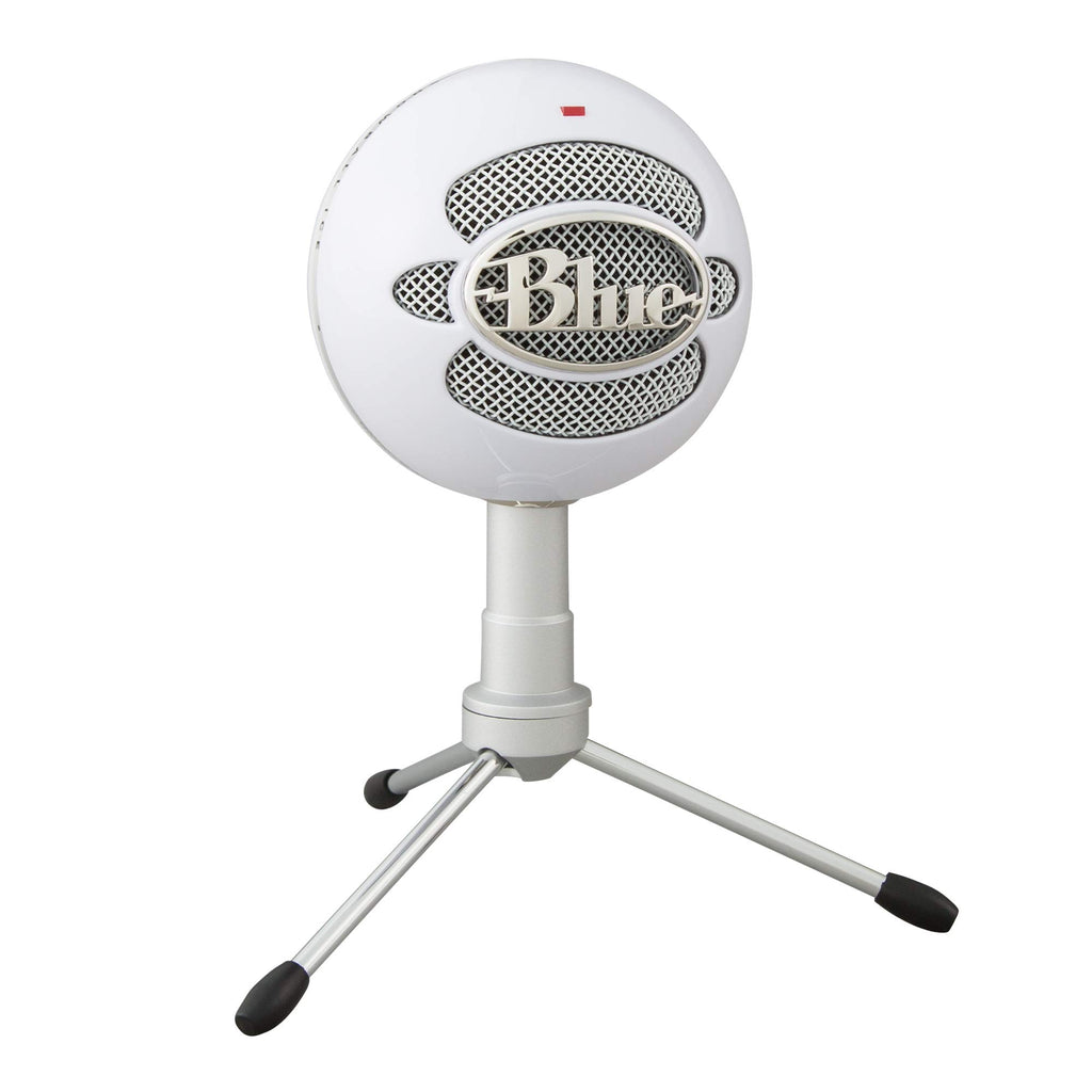 Blue Snowball iCE USB Mic for Recording and Streaming on PC and Mac, Cardioid Condenser Capsule, Adjustable Stand, Plug and Play - White