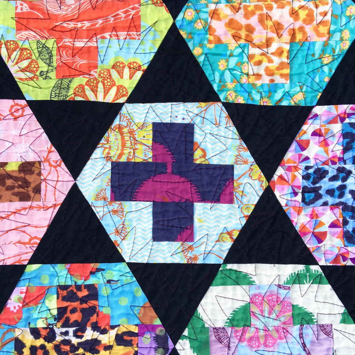 Hexy Plus Quilt Pattern Bryan House Quilts