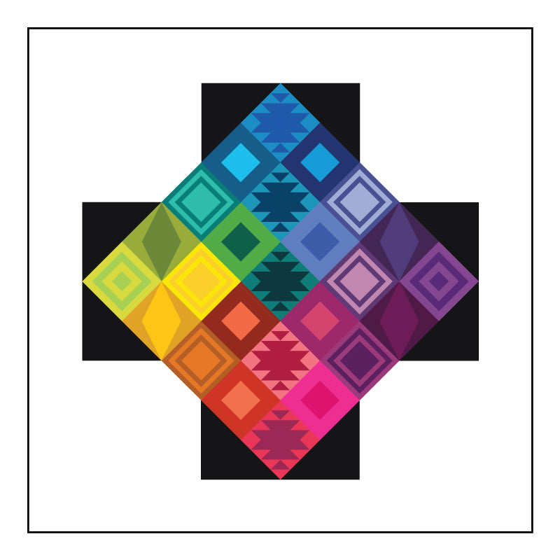 Rainbow Triangles Block of the Month