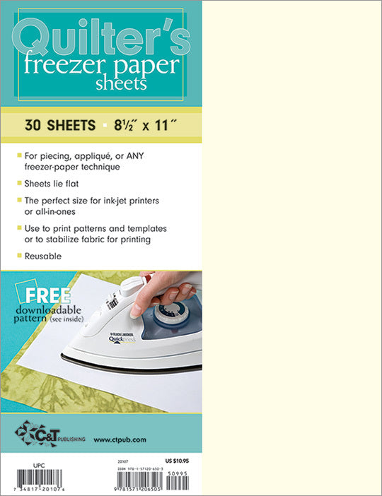 Quilter's Freezer Paper - 30 Sheets