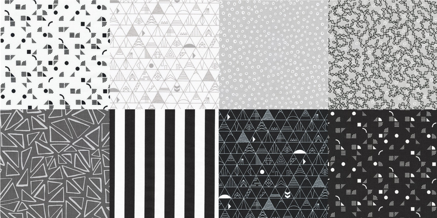 Half Yard Bundle Panache Black & Whites
