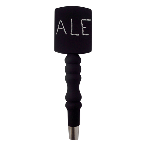 T5000 Tap Handle, SAT Spindle, Chalkboard Finish, Silver Plated Hardware