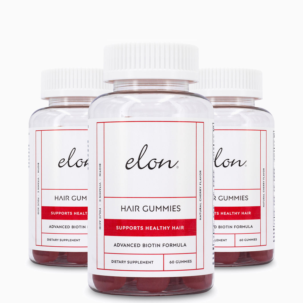 Elon Hair Gummies (3-Pack): Subscribe-Save 15%