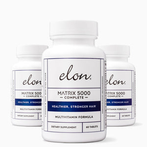 Elon Hair Care —  Matrix 5000 Complete Multi-Vitamin for Healthier & Stronger Hair - 3-Pack
