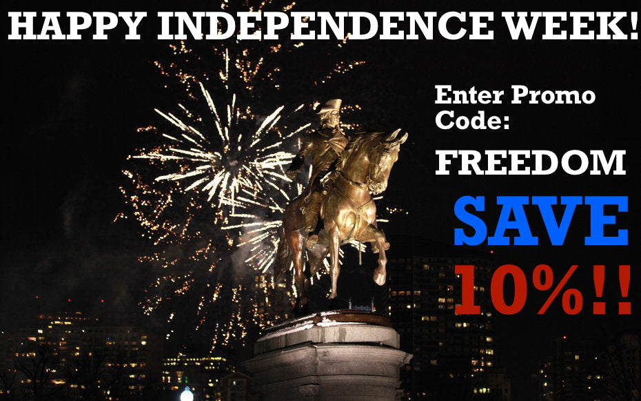 Take 10% for Independence Week!