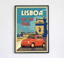Load image into Gallery viewer, Lisboa Fiat 500 Poster