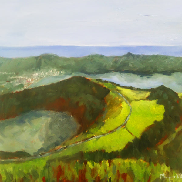 Sete Cidades, Azores, original painting - oil on canvas