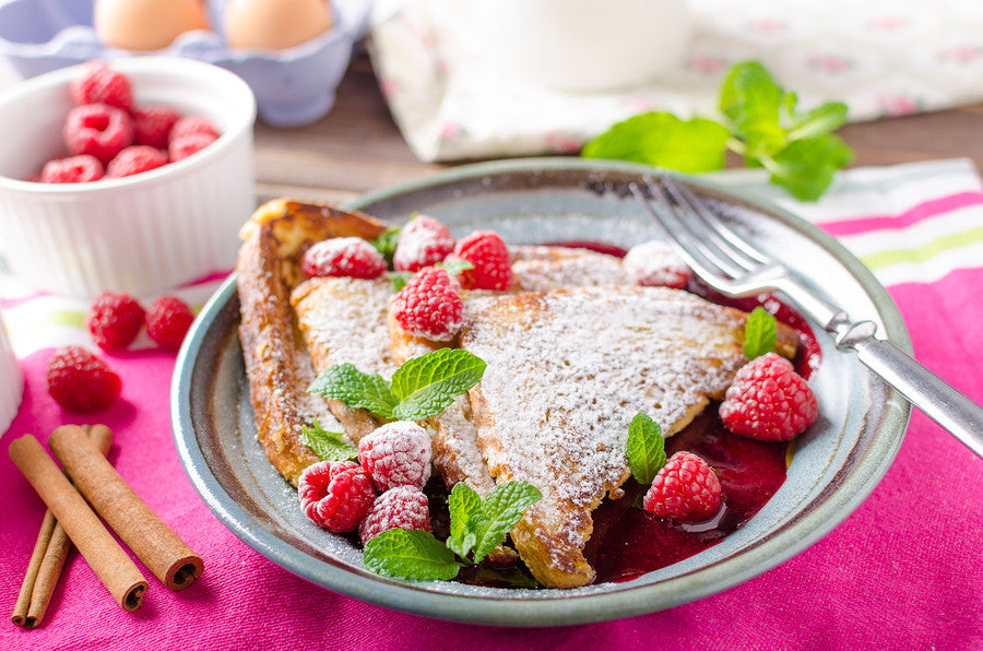 CREAM CHEESE RASPBERRY STUFFED FRENCH TOAST