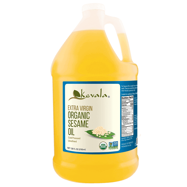 Organic Extra Virgin Sesame Oil 128 fl oz (1 gal)
