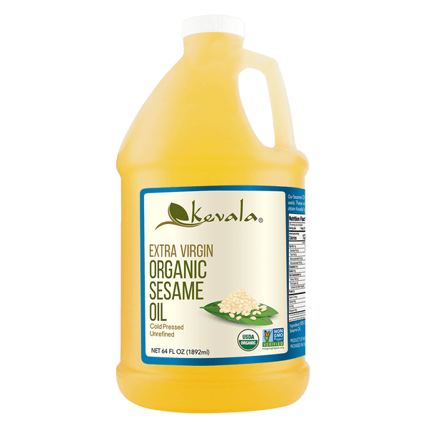 Organic Extra Virgin Sesame Oil 64 fl oz (1/2 gal)