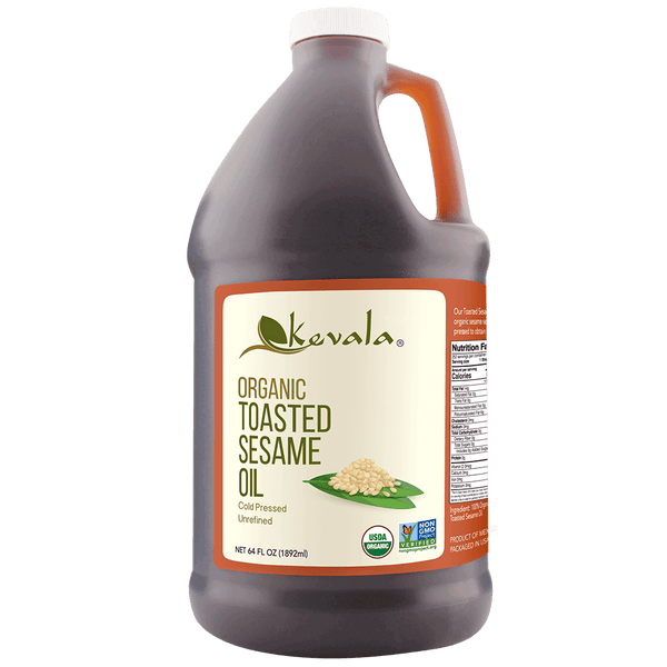 Organic Toasted Sesame Oil 64 fl oz (1/2 gal)