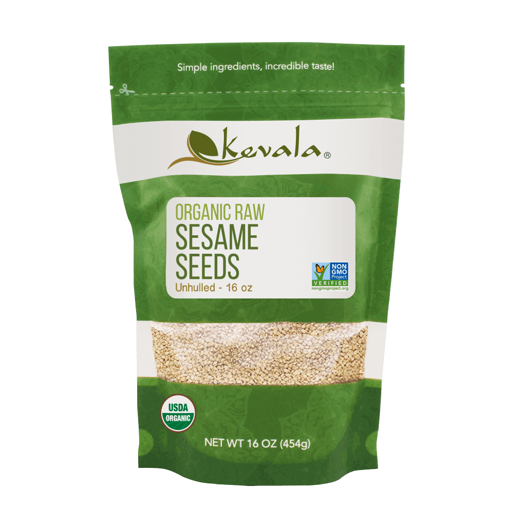 Organic Raw Sesame Seeds (Unhulled) 16 oz