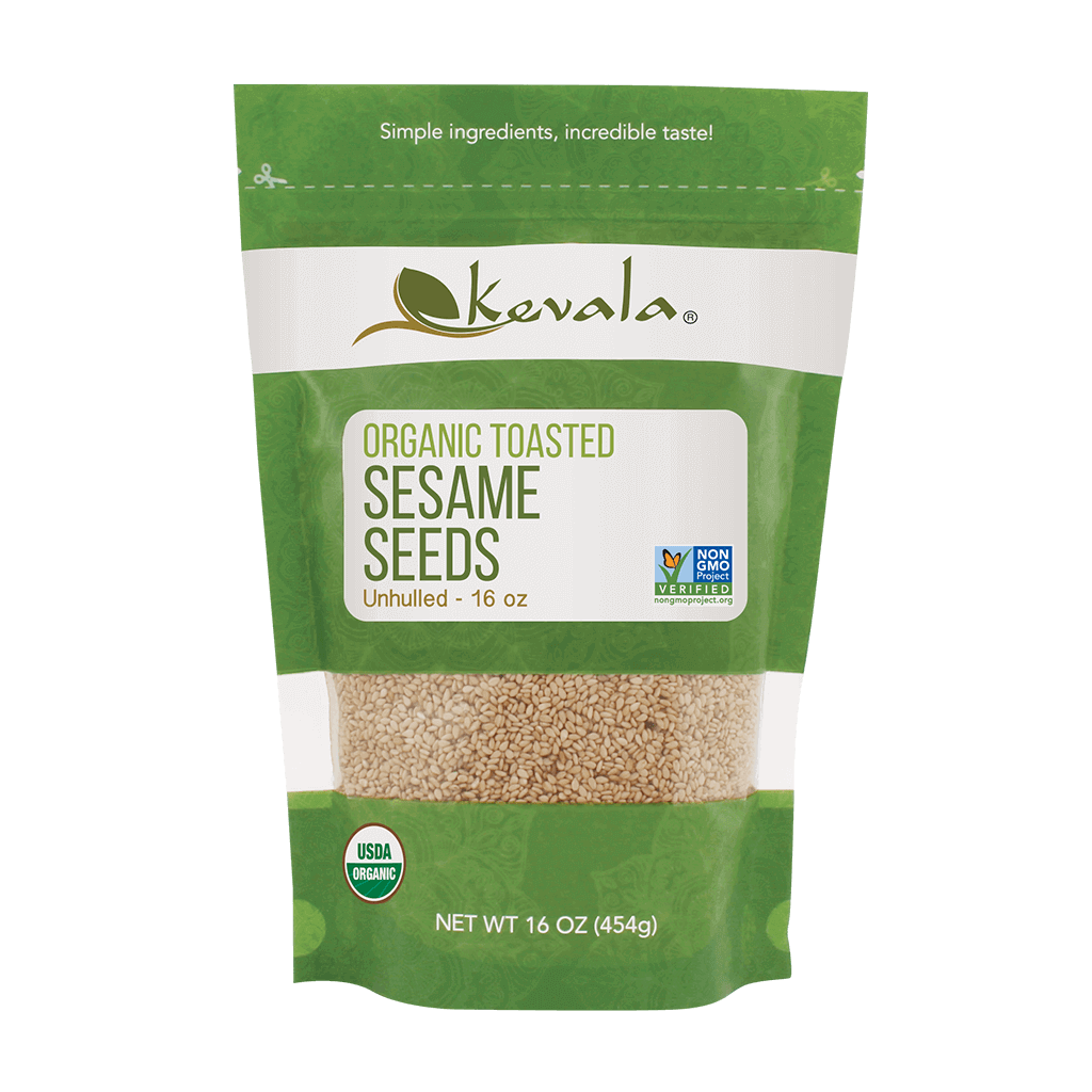 Organic Toasted Sesame Seeds (Unhulled) 16 oz