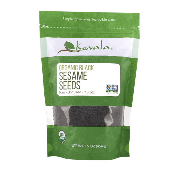 Organic Raw Black Sesame Seeds (Unhulled) 16 oz