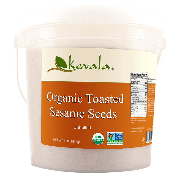 Organic Toasted Sesame Seeds (Unhulled) 4 lb