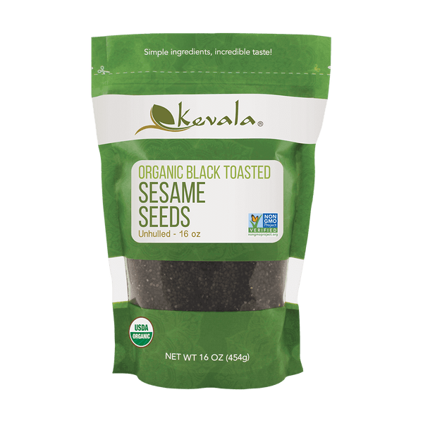 Organic Black Toasted Sesame Seeds 16 oz