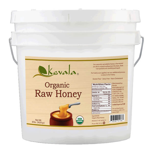 Organic Raw Honey (Spreadable) 8 lb