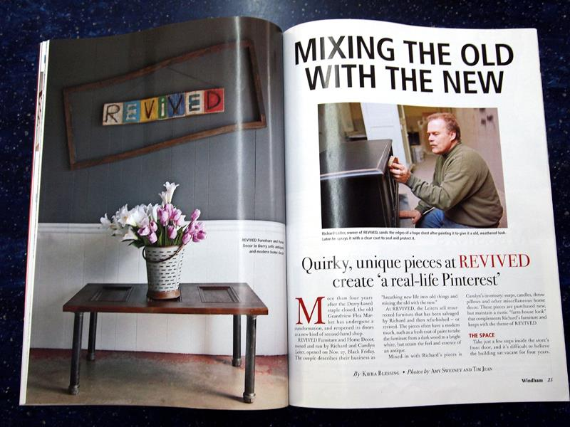 Revived! Furniture Magazine Spread